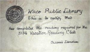 1934 certificate
