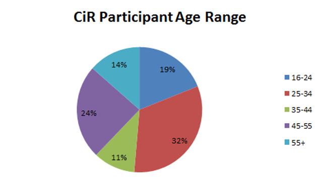 pie chart for CIR