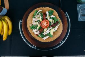 salad crepe