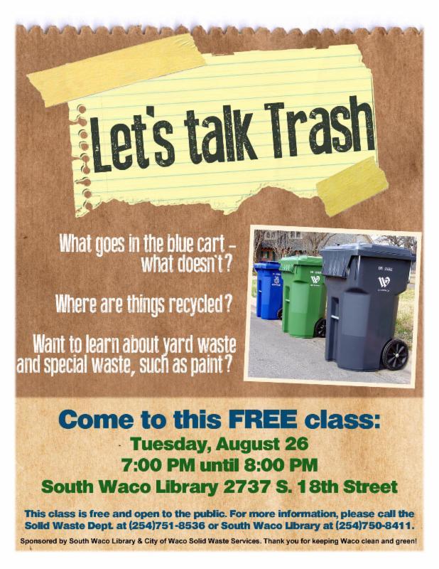 trash talk flyer
