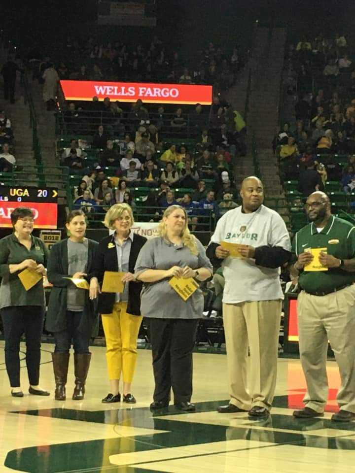 Transformation Waco being celebrated at the Baylor Lady Bear Basketball game